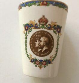 King George V & Queen Mary Silver Jubilee Beaker - 1935