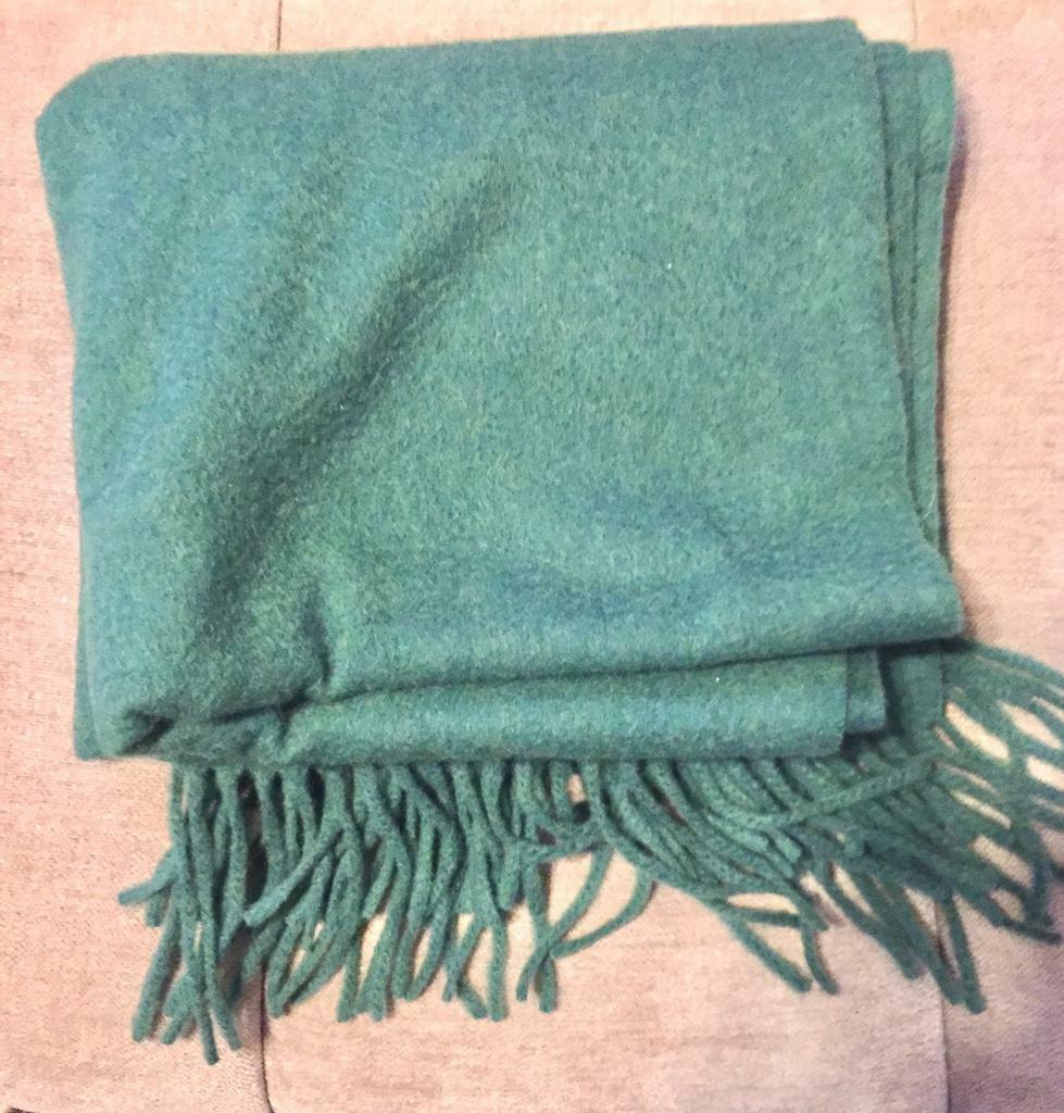 Two Scarves Green and Blue