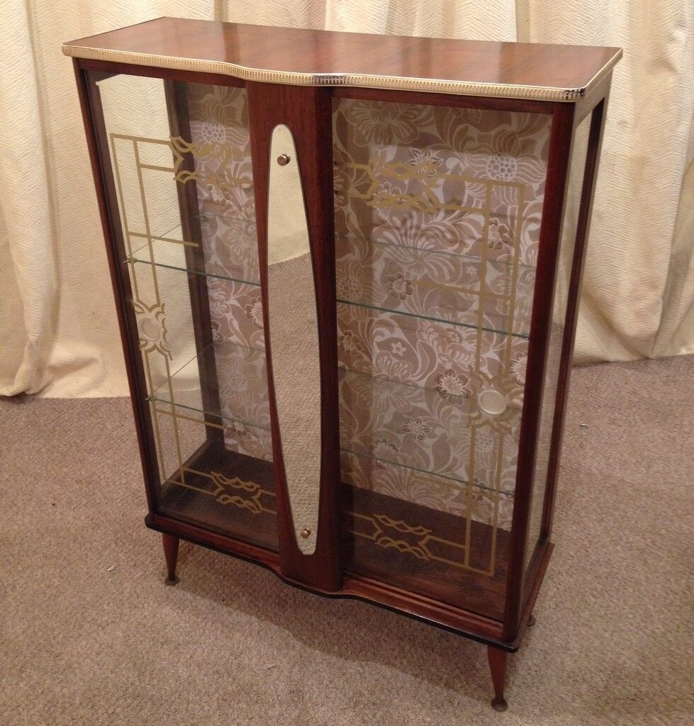 China Cabinet Retro 1950u0027s Display Cabinet Unit Vintage See Delivery