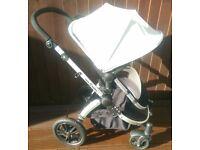 Ickle Bubba Silver V3 Pram Pushchair Stroller