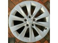 "Original Tesla Model S 19"" slipstream alloy wheels in reasonable Used condition"