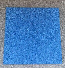 150 x Premium Blue Heuga Carpet Tiles 37.5 SQM £187.50 BRISTOL