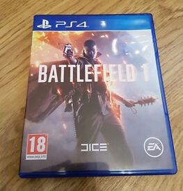 batllefield 1 on ps4 mint condition