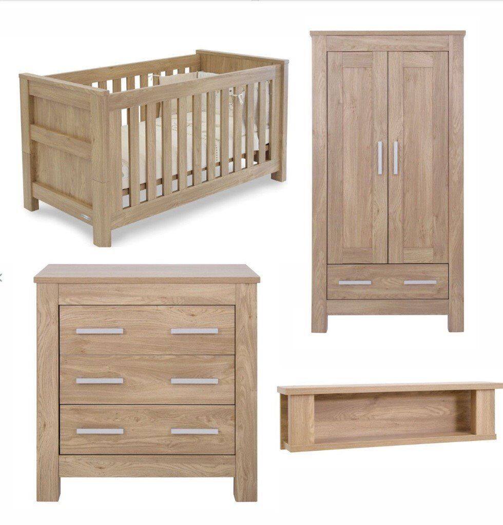 Babystyle Bordeaux By Charnwood 4 Piece Nursery Furniture Set With Mattr 400