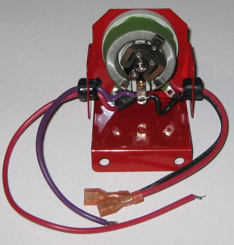 Yeso Rheostat with Bracket / Wires - 50 Ohms - 25 Watts - 3/8 Bushing - FVR25W50