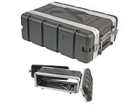 3U ABS Rack Case. Shallow Depth. Front and Rear Rack Strip.