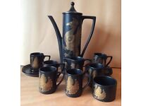 BEAUTIFUL VINTAGE PORTMEIRION 'PHOENIX' 15 PIECE COFFEE SET