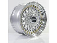 4pcs BBS RS 15 inch Rims Wheel 8J 4X100 4X114.3 Cheap Alloy wheels rim Car