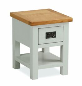 New grey & oak lamp end side table Fully built, In Stock Now Only £85 available today