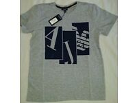 NEW ARMANI JEANS AJ T-SHIRT - SHORT SLEEVE - MUSCLE FITTED - SIZE: S, M, L & XL AVAILABLE