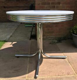 Diner style dining table
