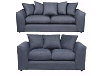 UK EXPRESS DELIVERY   DYLAN CHENILLE GREY 3+2 OR LH/RH CORNER SOFA   1 YEAR WARRANTY