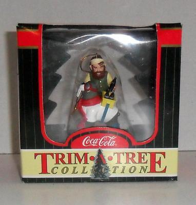 COCA-COLA Elves Trim-A-Tree Elf and Walrus 1998 COKE Brand Ornament  Mint in Box