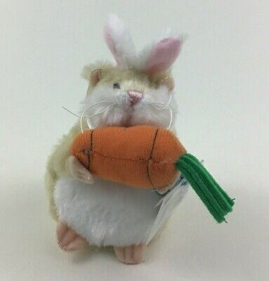 Ganz Mazin Hamsters Hamster in Bunny Costume Plush Stuffed Toy New with Code