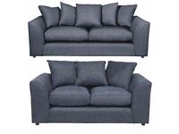 UK EXPRESS DELIVERY | DYLAN CHENILLE GREY 3+2 OR LH/RH CORNER SOFA | 1 YEAR WARRANTY