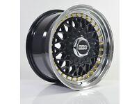 4pcs BBS RS 15 inch Rims Wheel 8J 4X100 4X114.3 Cheap Alloy wheels rim BMW