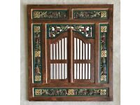Balinese Carved Mirror with Windows
