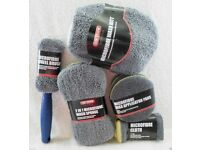 "CAR CLEANING KIT. ""CAR STORE"" 9 PIECE MICROFIBRE (TOP QUALITY) BRAND NEW. L@@K!"