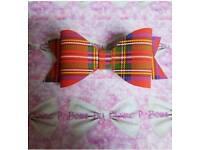 Tartan hair bow