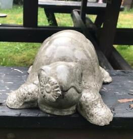 Tortoise Garden ornament with flower in his mouth