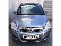 58REG Vauxhall Zafira Diesel 1.9 CDTI 120 Exclusiv+7SEATER+SERVICE HISTORY+MOT27/09/18/PH07459871313