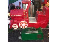 Coin operated children's ride train fairground funfair arcade amusements