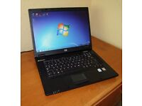 HP Compaq nx7300 Laptop Computer, Windows 7 pro, MS Office + Genuine HP Power Supply/Charger