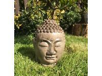 Large Garden Buddha head statue ornament