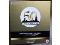 CORONATION STREET GOLDEN ANNIVERSARY COLLECTION - 12 DVDS - AS NEW