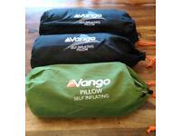 3 Brand New Vango Self Inflating Pillows