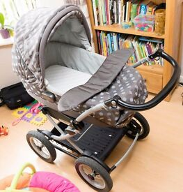 Mamas and Papas X-Cel Pram/Pushchair Polka Dot design Suitable from birth Very Good Condition