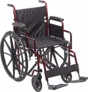 Fauteuil roulant Rebel - 295.99$ - Livraison gratuite partout au Québec - Neuf - Aucune taxes sur la chaise roulante