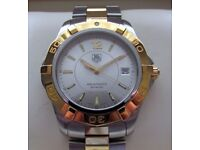 Tag Heuer Aquaracer Gents Two Tone Steel & Gold Watch WAF1120 **Buy Online**
