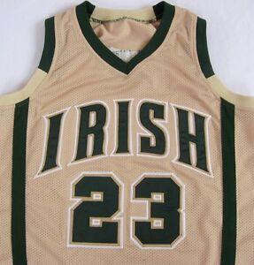 Lebron James St. Mary St. Vincent IRISH Beige High School Jersey -ALL SIZES-