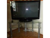 "37"" Panasonic Plasma TV with Large glass stand"