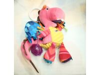 Lamaze Pink Sensory soft dragon toy - Best Pram toy