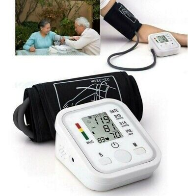 Upper Arm Sphygmomanometer Blood Pressure Monitor Portable LCD Pulse Tester USA
