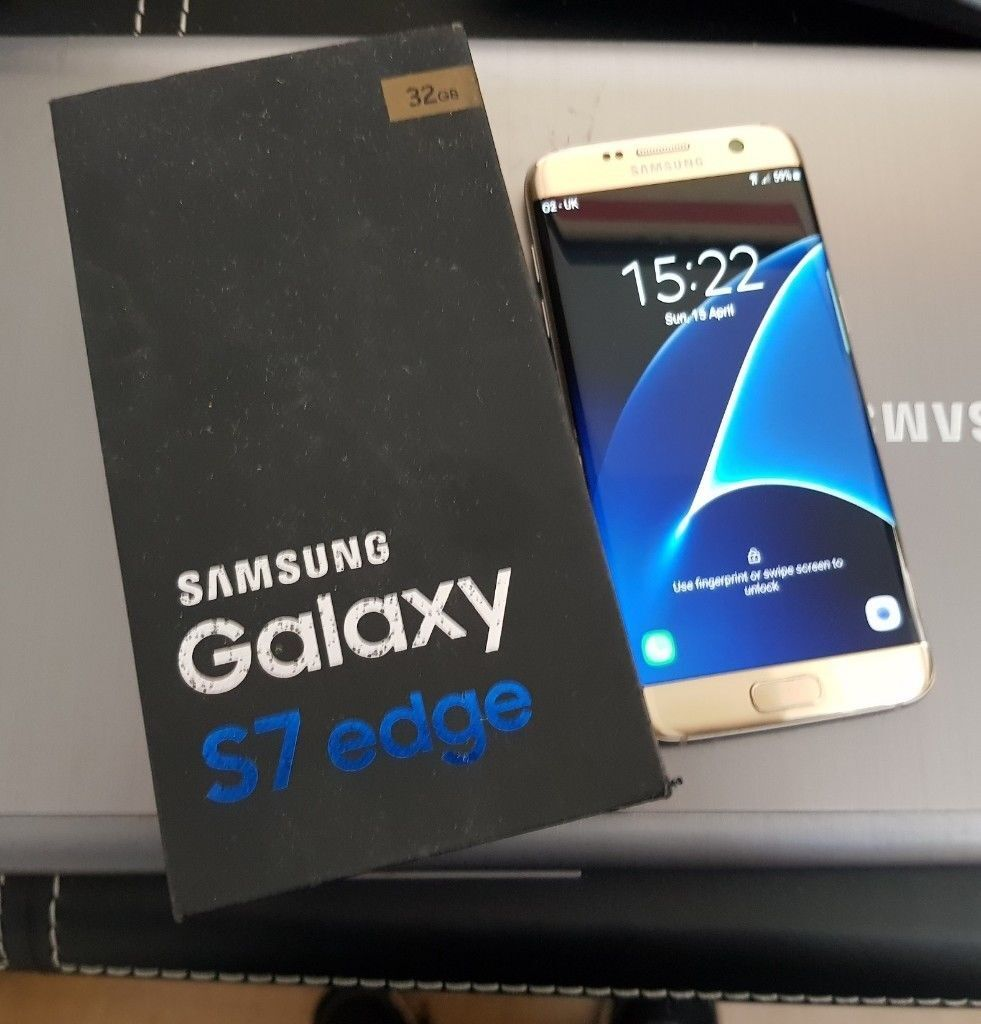 Samsung S7 Edge gold on all networks Like NEW with gear VR