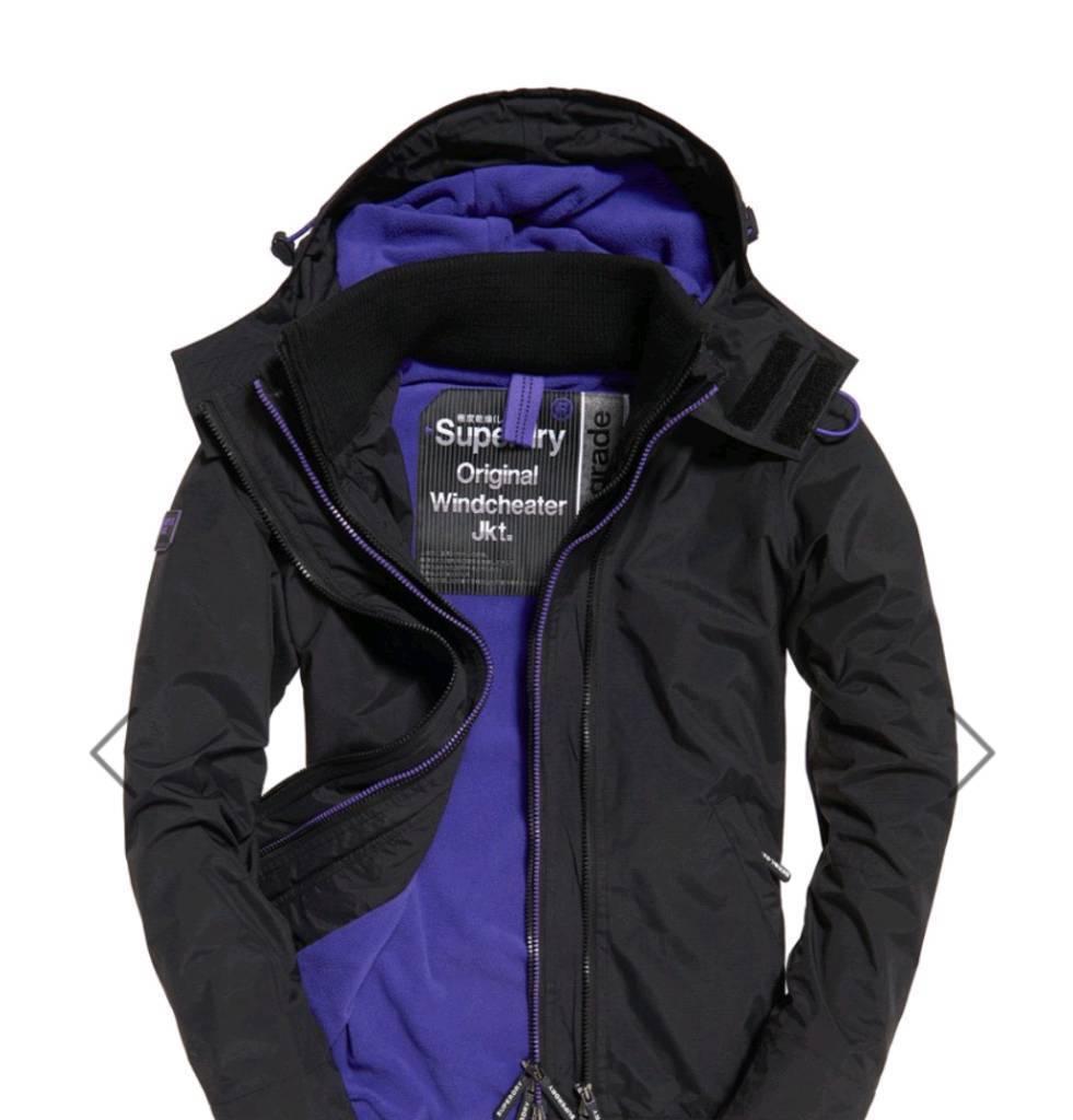 Women s XXS Purple Superdry Japan windcheater jacket  257612654