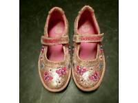Girls pink lelli kelly Gitter Dolly Shoes Size 12