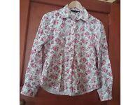 Boden Ladies Floral Shirt Size 12