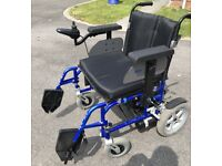 """Drive Enigma Folding Electric 22"""" wide Wheelchair up to 28 Stone carry weight"""