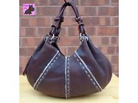 RADLEY - Large Brown Textured Leather TIBET Hand/Shoulder Bag *Very Good Condition*