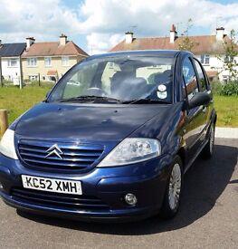 Citroen c3 1.4 hdi exclusive. 60+MPG 4 door, £30 road tax. 12 months MOT