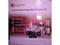 Brand New Kingavon 17 piece Multi Blender / Chopper/ Mixer / Processor Set