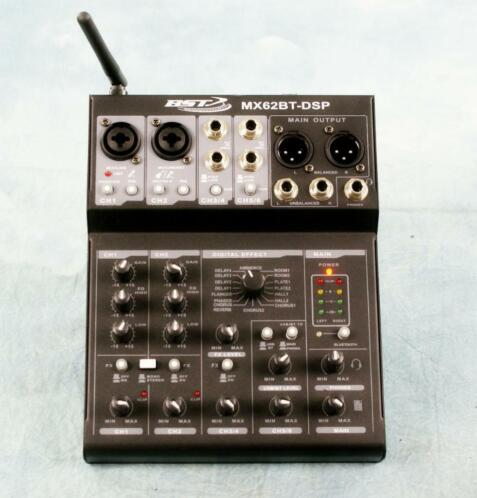 BST MX62BT-DSP 6-kanaals mixer Usb soundkaart ,Bleutooth