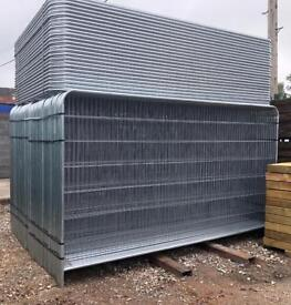 🔩 *NEW* HERAS STYLE FENCE PANELS - TEMPORARY SITE SECURITY FENCING - 3.45 X 2M