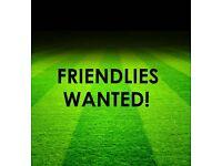 New Men's Team Seeking Friendlies In The Local Area.