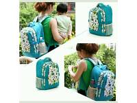 Baby changing bag backpack blue