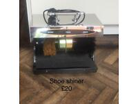 Shoe polishing machine in 2 colours